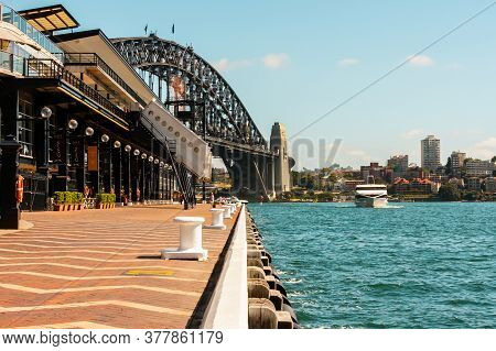 Sydney, Australia - January 12, 2009: Passenger Ship Sail Past The Sydney Promenade, Australia