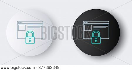 Line Secure Your Site With Https, Ssl Icon Isolated On Grey Background. Internet Communication Proto