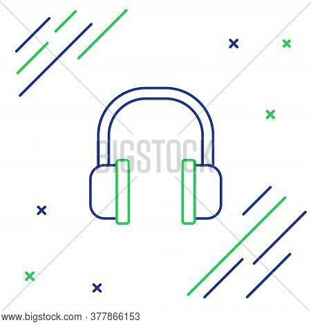 Line Headphones Icon Isolated On White Background. Earphones Sign. Concept For Listening To Music, S