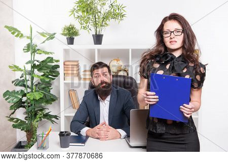 Legal Adviser. Financial Department. Office Secretary. Business Couple Working. Couple In Office. Su