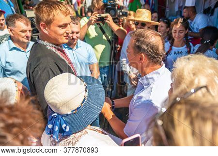 Poltava , Ukraine - August 22, 2018: Leader Of The Radical Party, Deputy Of The Verkhovna Rada Oleg