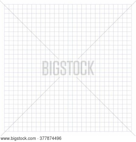 Notebook Background. Checkered Backdrop, Looks Like A School Notebook Paper Sheet. Vector.