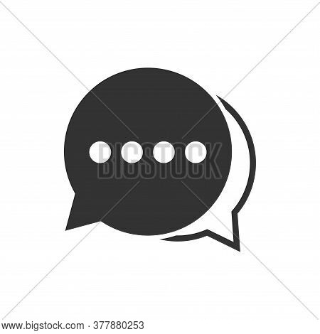 Chat Icon. Chat Icon Isolated On White Background. Chat Icon Simple Sign.