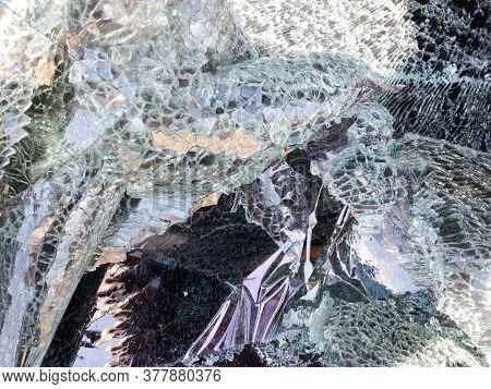Automobile Shot Up Bullet Gun Fire Fight Holes Windshield Broken Glass