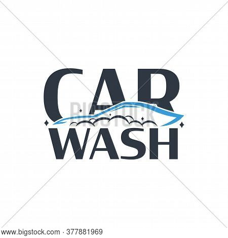 Car Wash Logo. Cleaning Car, Washing And Service. Vector Logo With Auto.