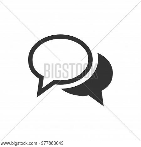 Chat Speech Bubble Icon Design. Message Communicatin Icon Sign. Online Consulting Icon Symbol. Chat