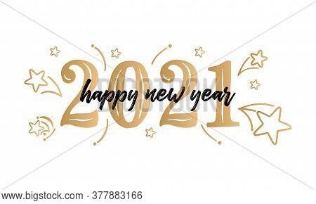 Happy New Year 2021 Luxury 2021 Happy New Year Elegant Design - Vector Illustration Of Golden 2021 L