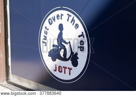 Bordeaux , Aquitaine / France - 07 22 2020 : Jott Sign And Logo Of Just Over The Top Store Signage O