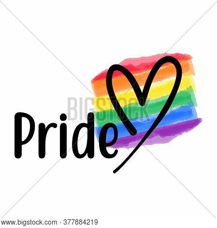 Pride Love Vector Template. Happy Pride Day Gay, Rainbow, Homo, Hlbt, Lgbt, Lhbt, Lgbti Or Lgbtq Awe