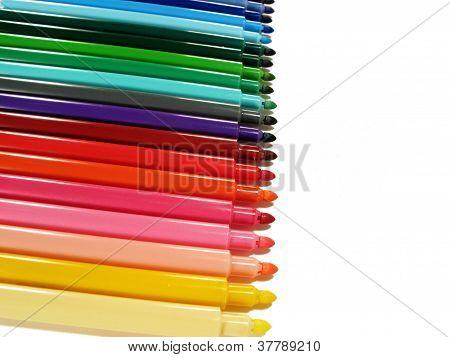Colored felt-tip pens