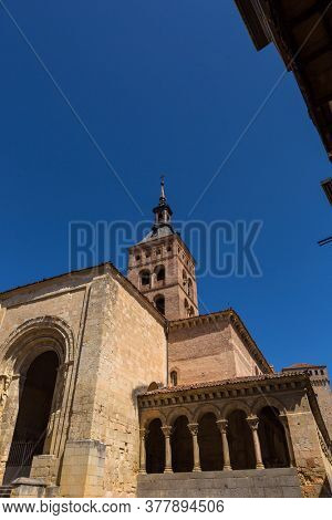 San Martin cathedral, old building, Segovia. Spain