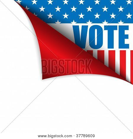 Vote United States Of America Page Corner