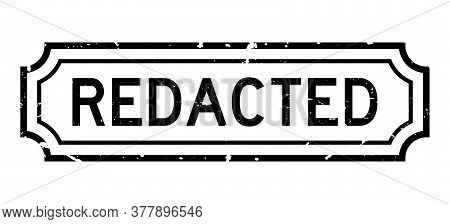 Grunge Black Redacted Word Rubber Seal Stamp On White Background