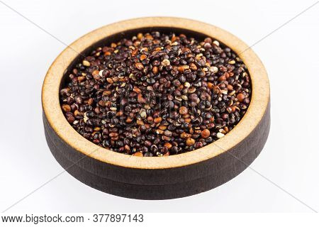 Seeds Of Black Quinoa - Chenopodium Quinoa. White Background