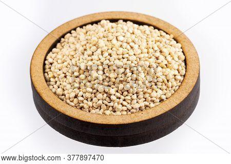White Quinoa Seeds - Chenopodium Quinoa. White Background