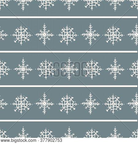 Seamless Winter Snow Background Stripe Pattern. Simple Gender Neutral Nursery Festive Scrapbook Digi