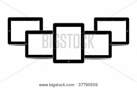 Blank Screens Black Tablets Pc Horizontal