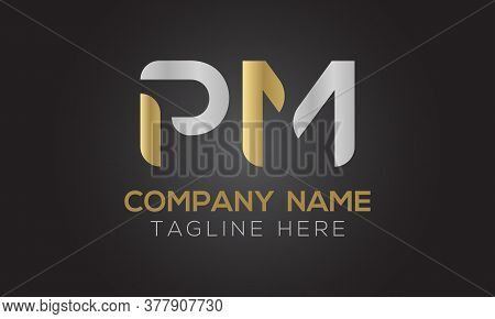 Initial Pm Letter Logo With Creative Modern Business Typography Vector Template. Creative Letter Pm