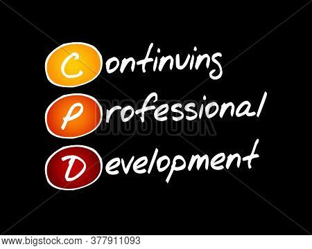 Cpd - Continuing Professional Development Acronym, Business Concept Background