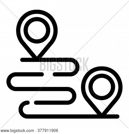 Workout Senior Running Route Icon. Outline Workout Senior Running Route Vector Icon For Web Design I