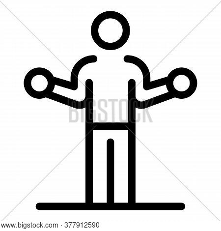 Senior Athlete Training Icon. Outline Senior Athlete Training Vector Icon For Web Design Isolated On