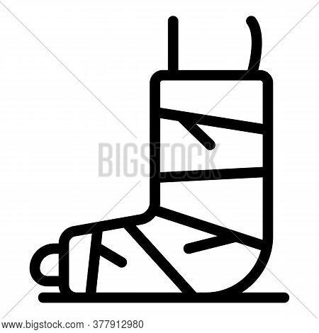 Sport Plaster Leg Icon. Outline Sport Plaster Leg Vector Icon For Web Design Isolated On White Backg