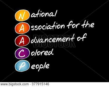 Naacp - National Association For The Advancement Of Colored People Acronym, Concept Background