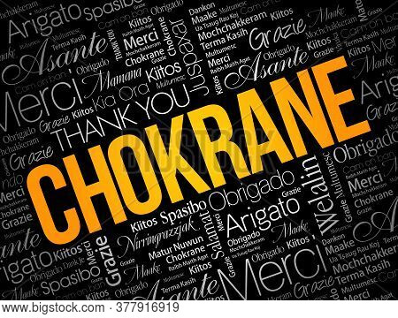 Chokrane (thank You In Arabic - Middle East, North Africa) Word Cloud Background In Different Langua