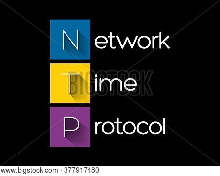 Ntp - Network Time Protocol Acronym, Technology Concept Background