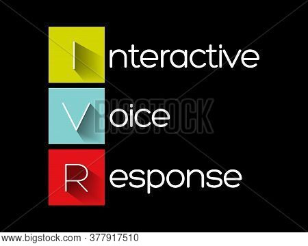 Ivr - Interactive Voice Response Acronym, Technology Concept Background