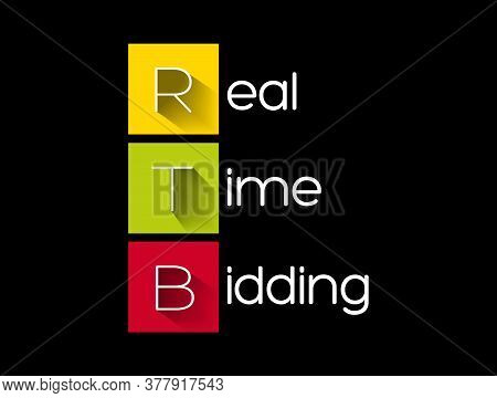 Rtb - Real-time Bidding Acronym, Business Concept Background