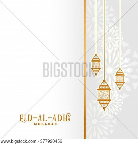 Traditional Eid Al Adha Festival Background With Text Space