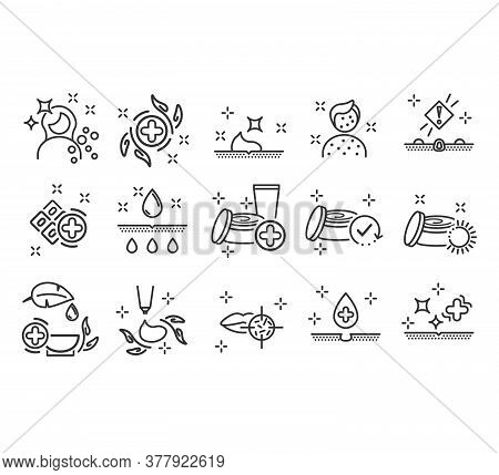 Dermatology Icons. Paraben Chemical Formula Icons. Vector Illustration Eps10