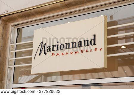 Bordeaux , Aquitaine / France - 07 22 2020 : Marionnaud Logo And Text Sign Of Store Front Shop Beaut