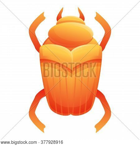 Culture Scarab Beetle Icon. Cartoon Of Culture Scarab Beetle Vector Icon For Web Design Isolated On