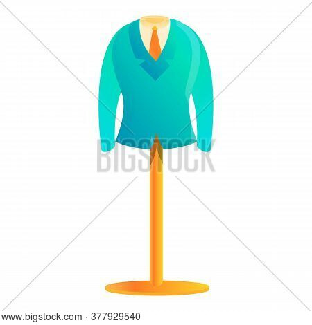 Clothes Production Stand Icon. Cartoon Of Clothes Production Stand Vector Icon For Web Design Isolat
