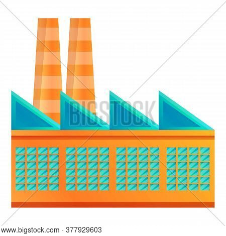 Textile Production Factory Icon. Cartoon Of Textile Production Factory Vector Icon For Web Design Is