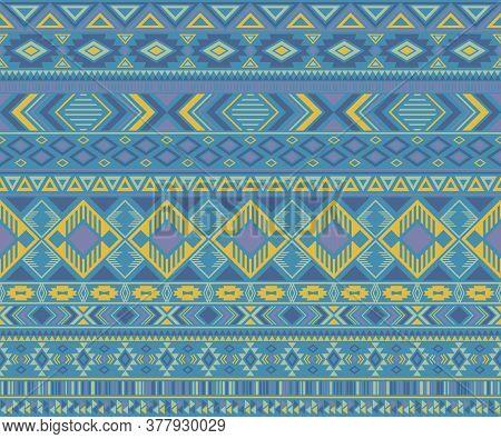 Navajo American Indian Pattern Tribal Ethnic Motifs Geometric Seamless Background. Chic Native Ameri