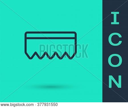 Black Line Sponge With Bubbles Icon Isolated On Green Background. Wisp Of Bast For Washing Dishes. C