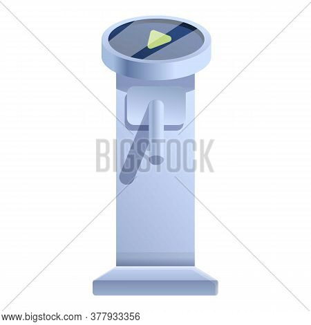 Closed Turnstile Icon. Cartoon Of Closed Turnstile Vector Icon For Web Design Isolated On White Back