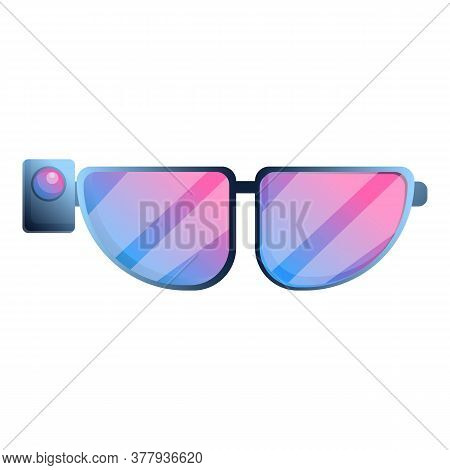 Vr Glasses Icon. Cartoon Of Vr Glasses Vector Icon For Web Design Isolated On White Background