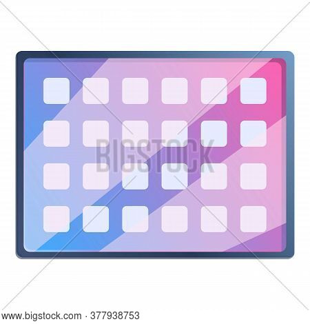 Last Model Tablet Icon. Cartoon Of Last Model Tablet Vector Icon For Web Design Isolated On White Ba