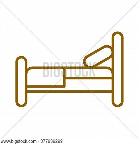 Bed Vector Sketch Icon Isolated On Background. Hand Drawn Bed Icon. Bed Sketch Icon For Infographic,