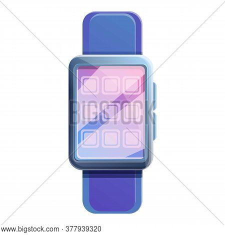 Sport Smartwatch Icon. Cartoon Of Sport Smartwatch Vector Icon For Web Design Isolated On White Back
