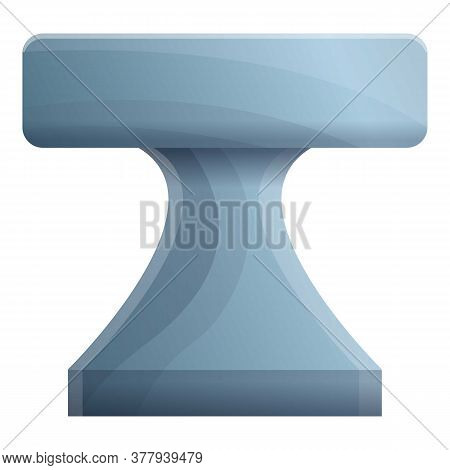 Steel Anvil Icon. Cartoon Of Steel Anvil Vector Icon For Web Design Isolated On White Background