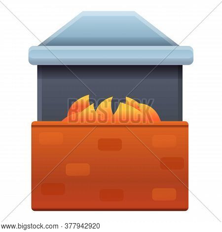 Blacksmith Oven Icon. Cartoon Of Blacksmith Oven Vector Icon For Web Design Isolated On White Backgr
