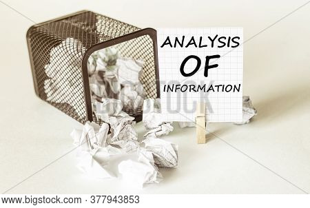 White Lumps Of Paper Fall Out Of The Case To The Paper In The Inscription Analysis Of Information