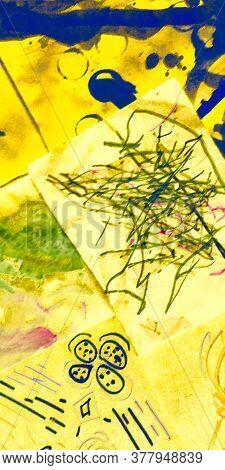 Grunge Steel Paper. Painting Wealth Glow Background. Elegant Metal Art. Orange Gold Wall Papers Patt
