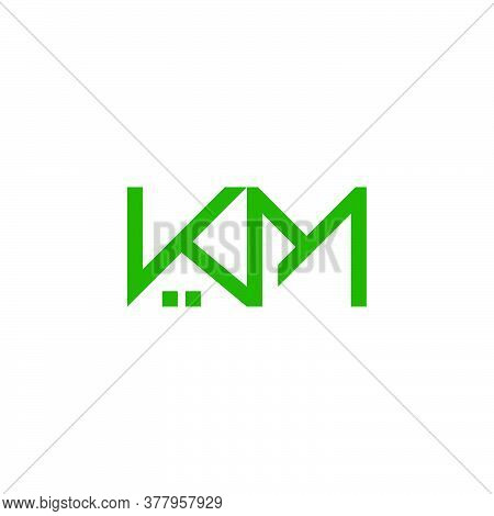 Letter Km Real Estate Symbol Simple Geometric Logo Vector