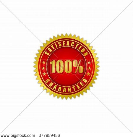 Vector Illustration Of A Satisfaction Guarantee Label.